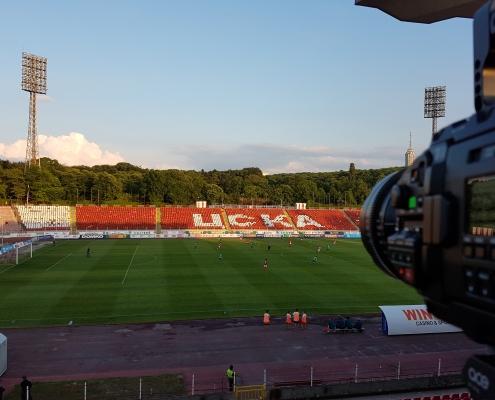 Test camera at the CSKA-Sofia - Beroe match