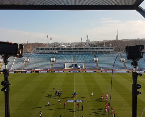 Football match about to start