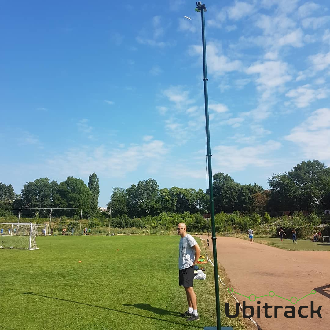 Roman standing next to the Ubitrack mast